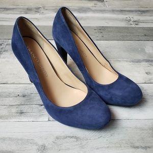 Franco Sarto Blue Suede Heels